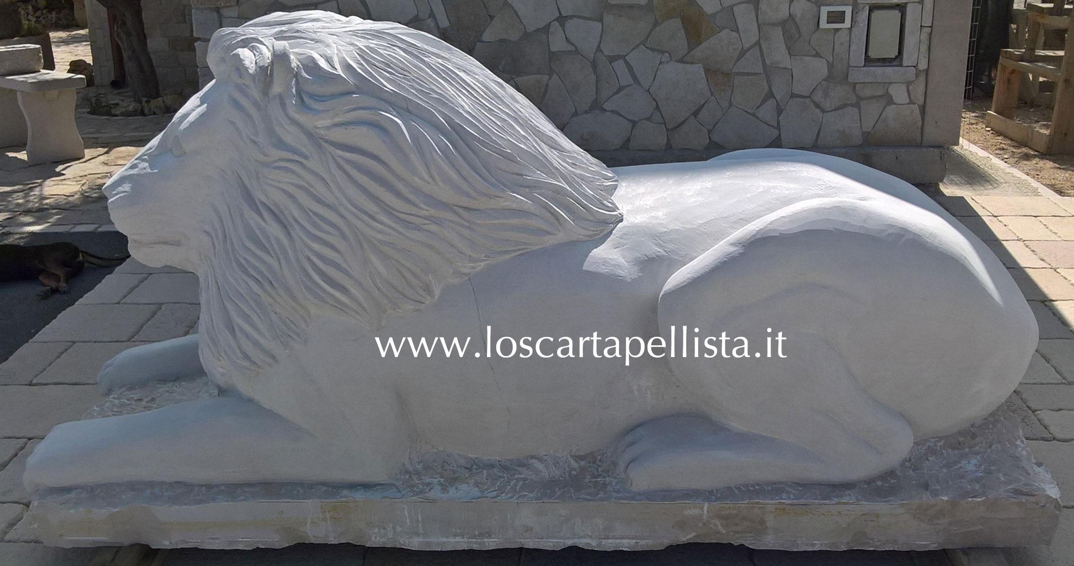 Scultura Leone in Pietra